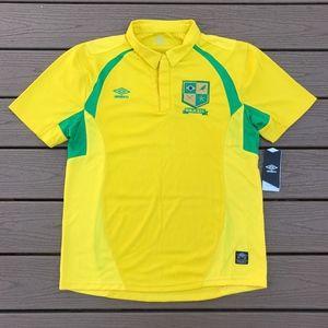 NWT Umbro Brasil Polo Jersey Shirt Sz L